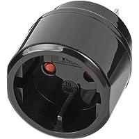 Brennenstuhl Reisstekker/reisadapter (reisstekkeradapter voor: VS, Japan stopcontact en Euro/contourstekker) zwart