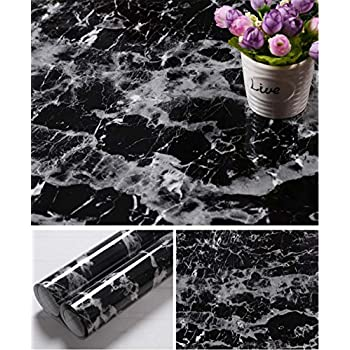 Amazon Com Faux Black Marble Contact Paper Self Adhesive