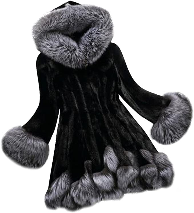 Jushye Mens Knit Sweater,Solid Cardigan Hooded Button Thickened Plush Coats Jacket