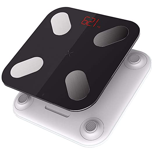 Amazon.com: Mini Smart Bathroom Weight Mi Scales Fat Percentage Bascula Digital Peso Corporal Led Display Electronic Floor Scales,White: Health & Personal ...