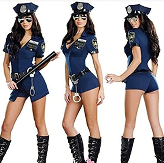 Abaobao Traje de Policía Disfraz Mujer Uniforme de Policía Cosplay ...