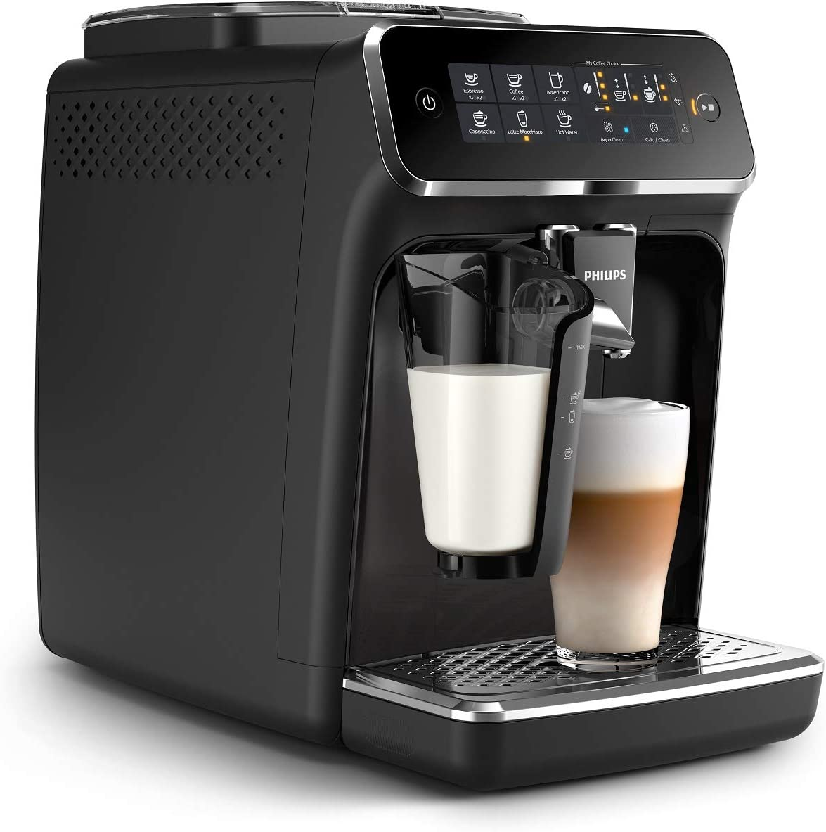 Philips 3200 Series Fully Automatic Espresso Machine w/ LatteGo, Black