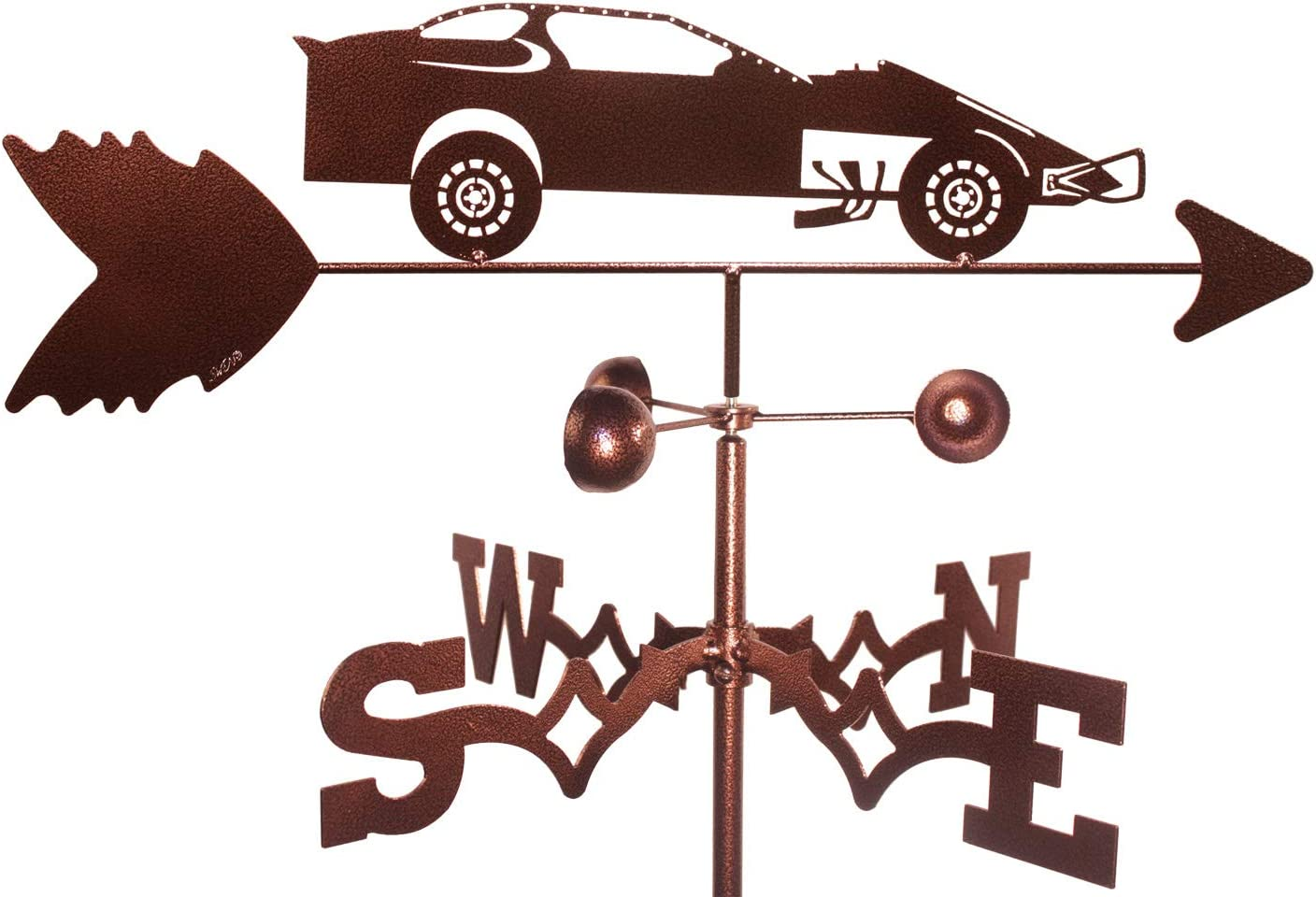 Hand Made Modified Race Car Weathervane *NEW*