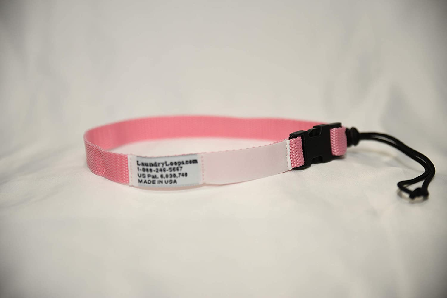 Laundry Loops with Sock Snare, Premium Pink Laundering Strap