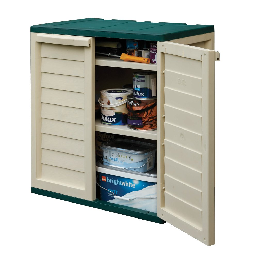 Rowlinson Plastic Utility Cabinet   Green And White: Amazon.co.uk: Garden U0026  Outdoors