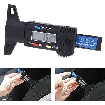 Digital LCD Neumáticos profundímetro 0 - 25 mm Calibre neumático (Profundidad Cuchillo Perfil profundos Cuchillo coche Neumáticos Medir Perfil Comprobador ...