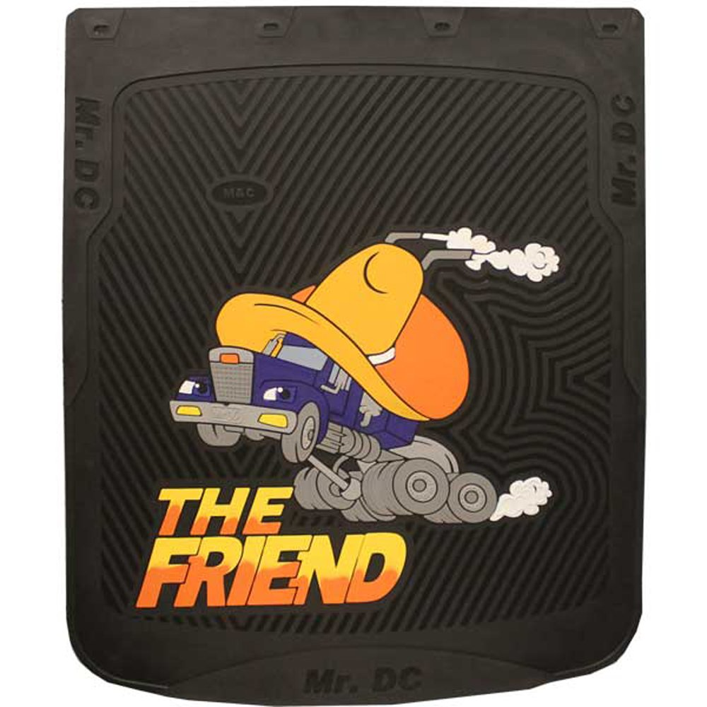 Black 24'' x 30'' ''The Friend'' Fiberglass Reinforced Rubber Semi Truck Mud Flaps- Pair