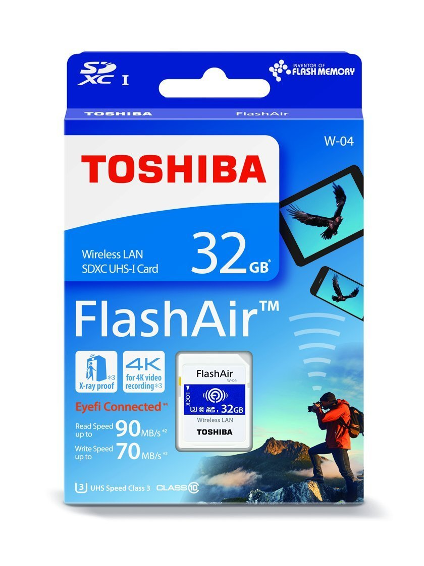 Toshiba FlashAir W-04 32 GB SDHC Class 10 Memory Card by Toshiba