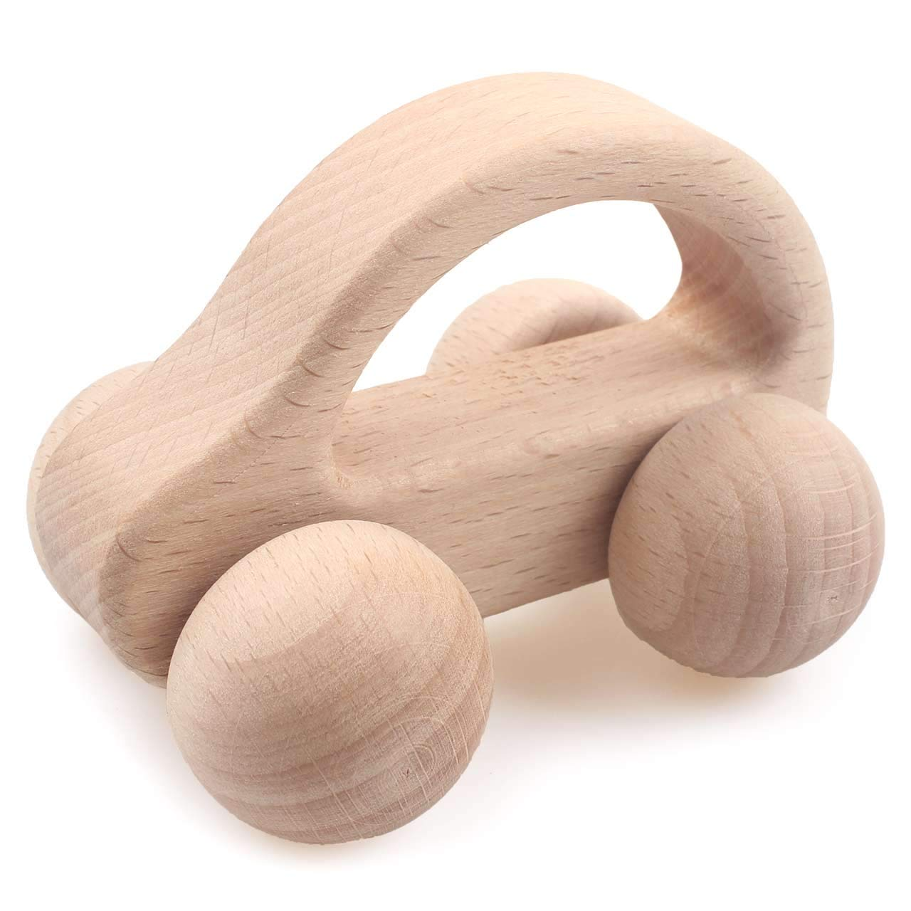 1PCS Wooden Car  Baby Toys Beech Wooden Blocks Cartoon Educational Toys For Children Teething Baby Teethers
