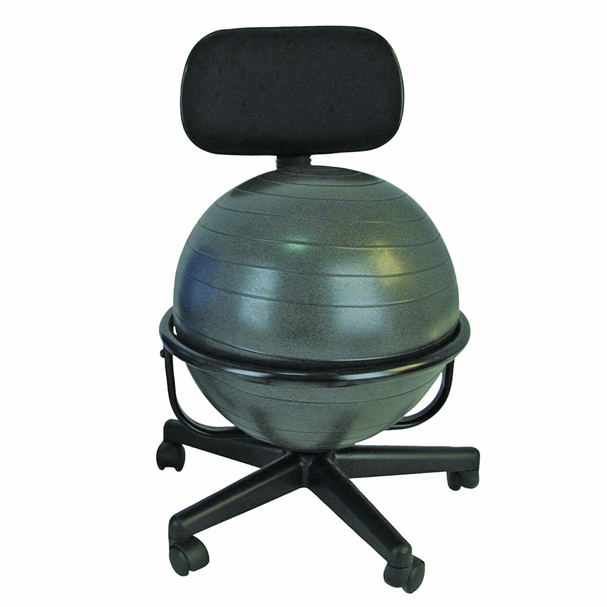 Ergonomic ball office chairs - Amazon Com Cando Metal Ball Chair 22 With Arms Industrial Scientific