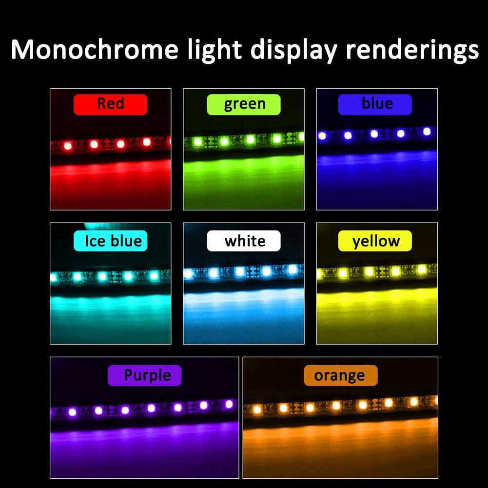 Airymap 4-in-1 9 Lampe LED Voiture Interieur Eclairage Lumiere Ruban D/écoration Atmosph/ère 9 Couleurs avec t/él/écommande sans Fil Chargeur de Voiture Inclus