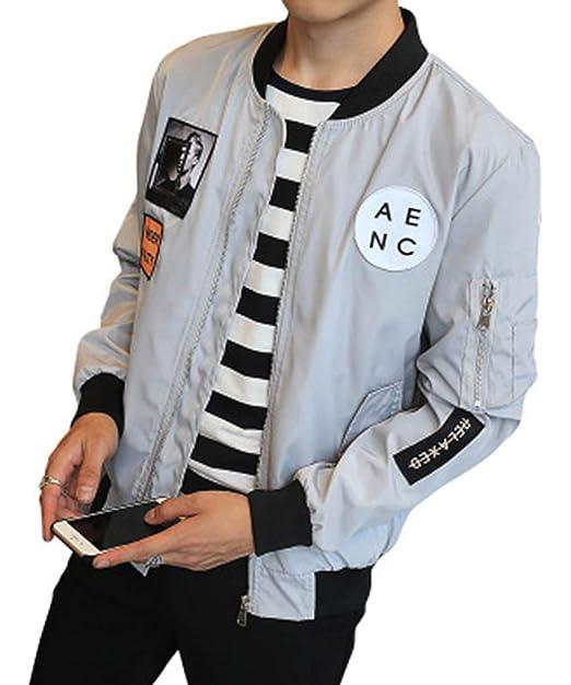 Hombres Bomber Jacket Men Men Chaqueta Béisbol De Hip Hop Patch Designs Slim Joven Fit Pilot Bomber Jacket Coat Hombres Hombres Chaquetas Casuales: ...