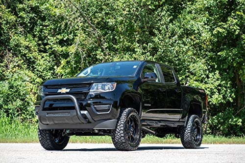Rough Country W2W Nerf Bar Hoop Steps Compatible w// 2015-2019 Chevy Colorado GMC Canyon Crew Cab 5 FT Bed RCG1583CC