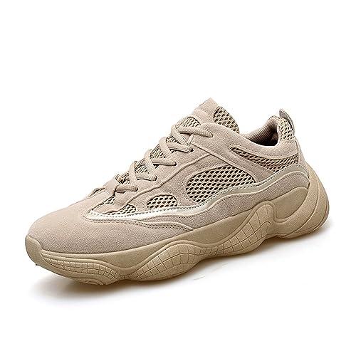 96c9b4a5e32d0 Gamuza Zapatillas Bajas para Hombre Zapatillas Deportivas Caminar Caqui   Amazon.es  Zapatos y complementos