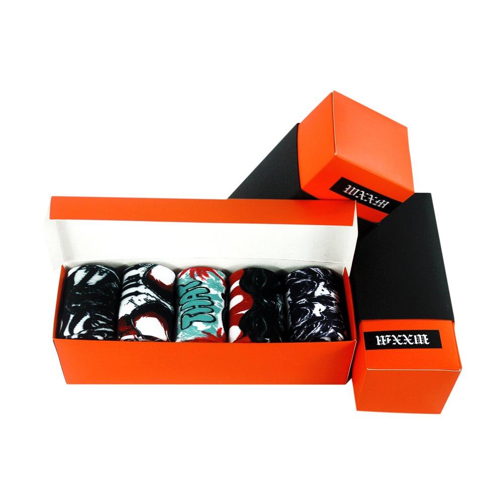 WXXM SOCKSHOSIERY メンズ B0749KN21K 000/5 Pairs-gift Box B 000/5 Pairs-gift Box B