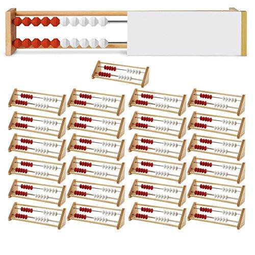Mini Wooden Bead Set - ETA hand2mind 20-Bead Rekenrek Class Kit with 25 Wooden Frames and a Teacher Demonstration Frame