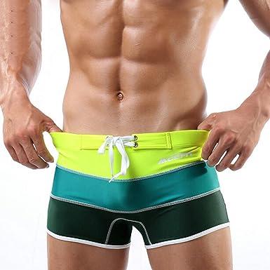 6d1143885efcc Amazon.com: Kongsta Mens Swim Trunks Swimming Shorts for Swimwear Men  Swimsuit Beach Wear Surfing Sexy Gay Bathing Suit Boxer Briefs: Clothing