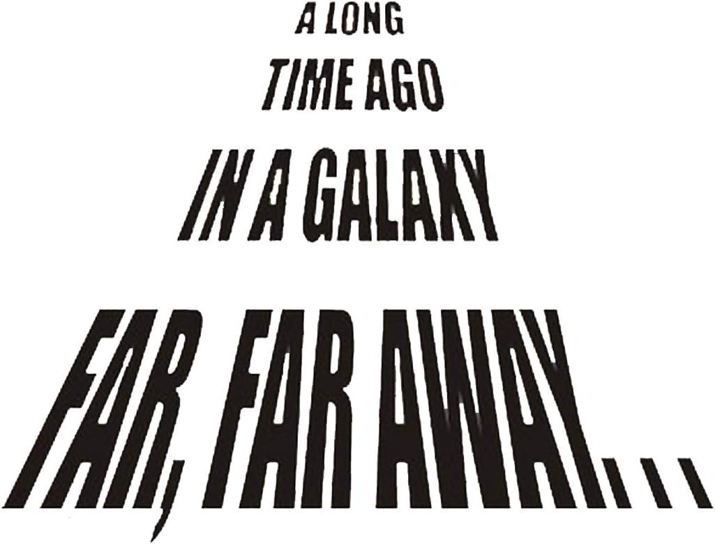 A Long Time Ago In A Galaxy Far Far Away Star Wars Themed Vinyl Wall Decals 22x22 Black Amazon Ca Home Kitchen