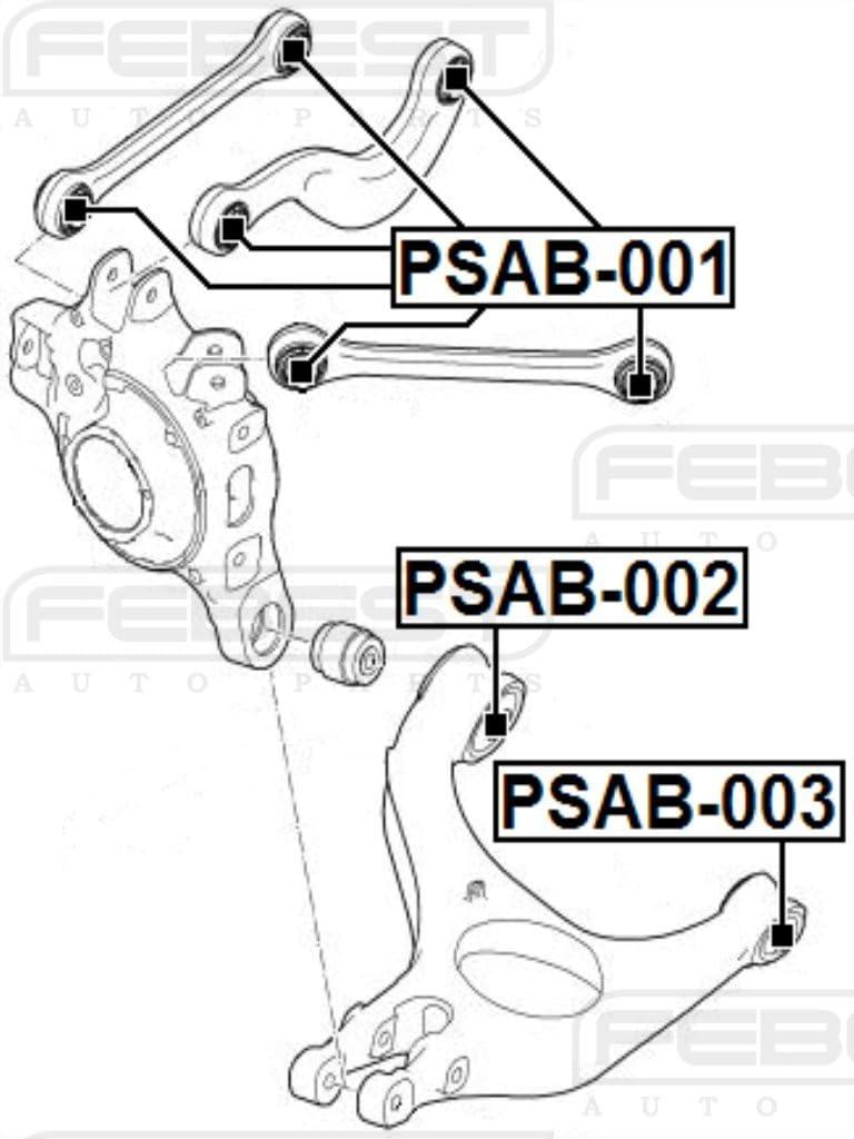 FEBEST PSAB-003 Rear Suspension Arm Bushing