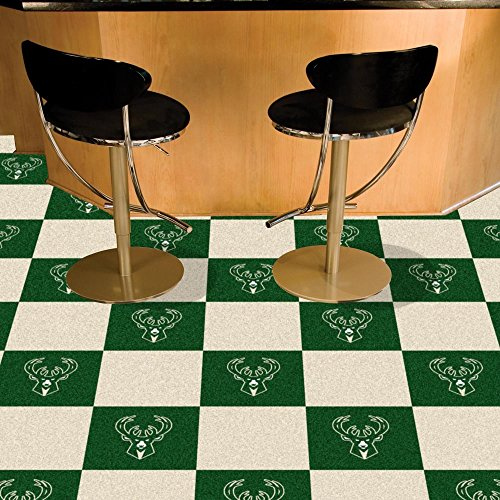 NBA - Milwaukee Bucks Carpet Tiles by Fanmats