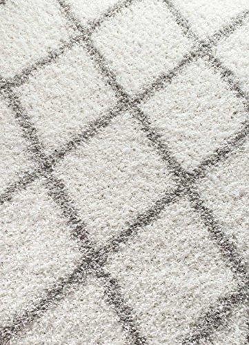 Cozy Soft and Plush Diamond Trellis Shag Area Rug