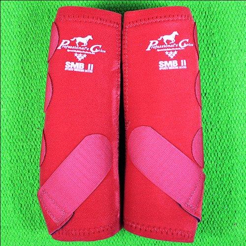 Professionals Choice Equine Smbii Leg Boot, Pair (Large, Crimson Red)