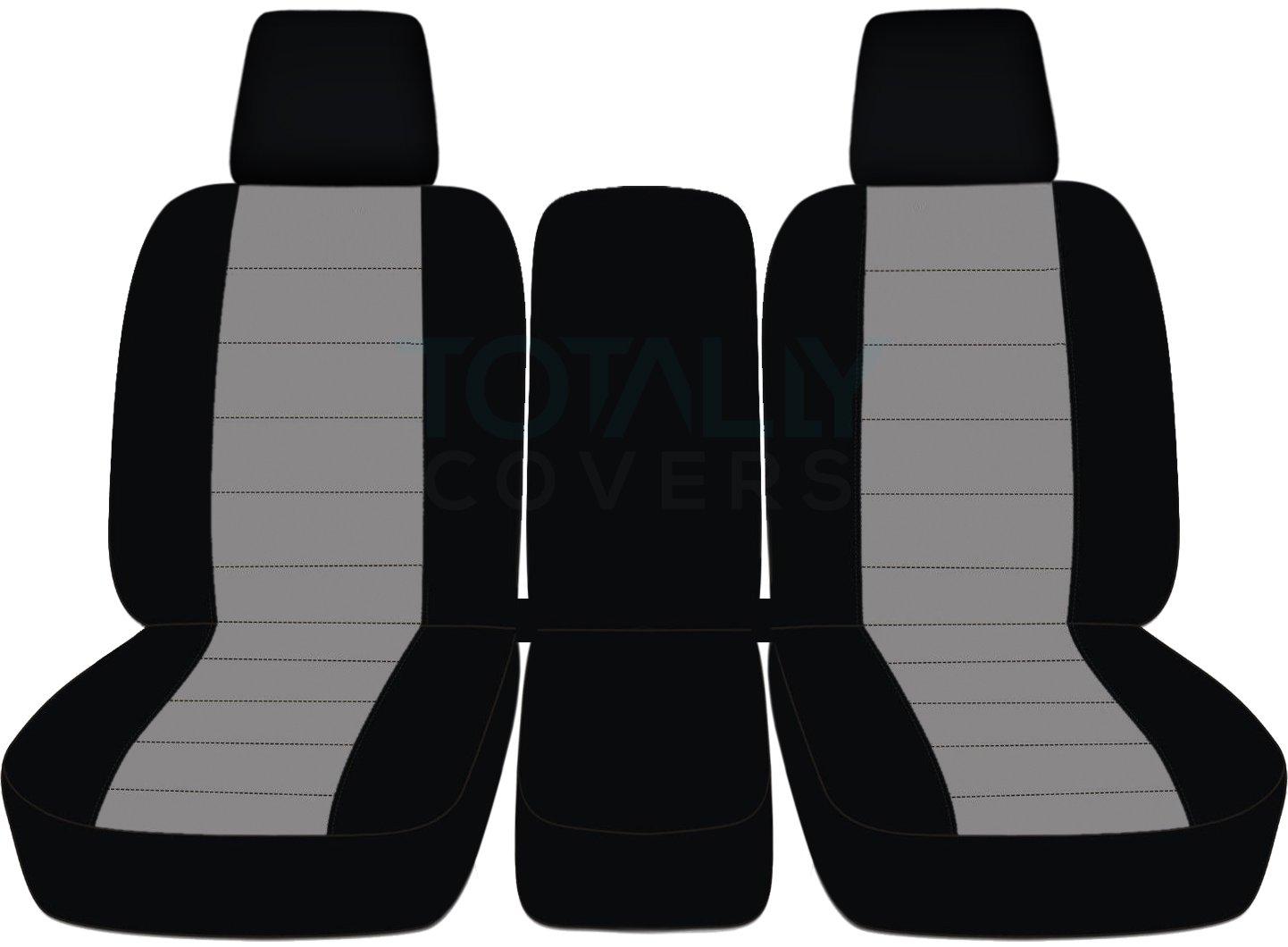 2004 – 2008フォードF - 150ツートンカラートラックシートカバー(フロント40 / 20 / 40分割ベンチ) センターコンソール/アームレスト、W / WO、シートベルト – フロント( 21色) 2005 2006 2007 Fシリーズf150 (右ハンドル車との互換性は保証いたしかねます) Solid Armrest グレイ TCCSCTT26-20-0408FF150424-SA B06XDVJ735 Solid Armrest|Black and Gray Black and Gray Solid Armrest