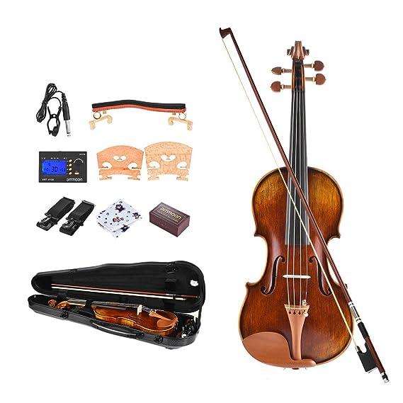 ammoon 4/4 Violín Pro Master Maestro Antonio Stradivari ...