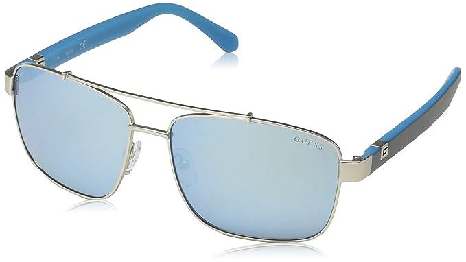 a0d4427590b Amazon.com  GUESS Men s Gu6894 Aviator Sunglasses