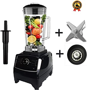 Us/Eu Quality G5200 Bpa Free 3Hp 2200W Heavy Duty Commercial Blender Juicer Ice Smoothie Professional Processor Mixer,Black Blade Drive,Us Plug