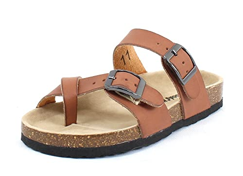 7008f4ef1f42c Amazon.com | Outwoods Girls Bork 41 Brown Synthetic Sandals | Sandals