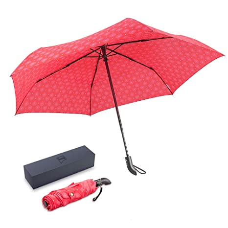 4c9123758 BOY Folding Windproof Umbrella, Auto Open & Close Fast Dry, Compact Golf  Umbrella,
