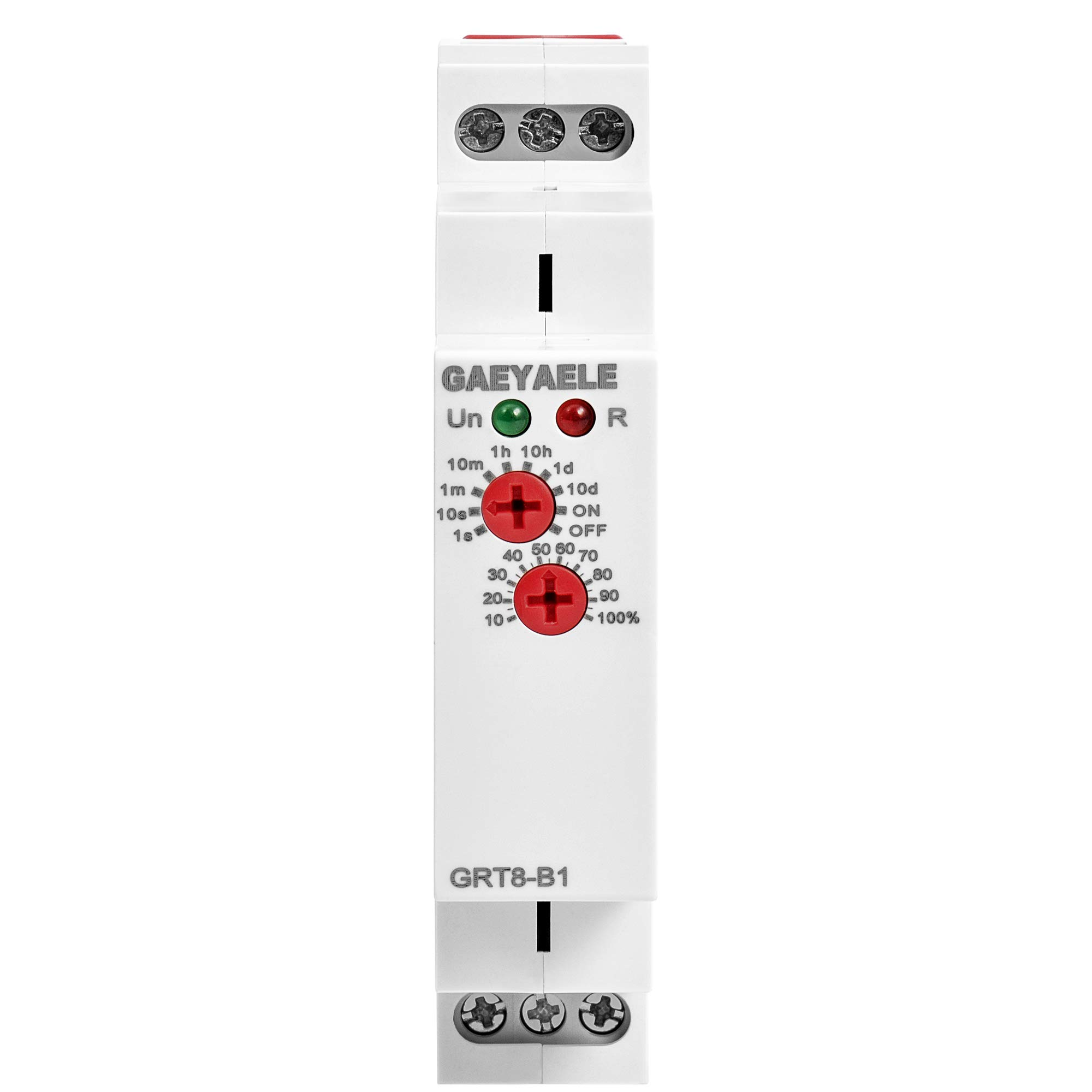 GAEYAELE GRT8-A1 B1 Delay Off Time Relay Electronic 16A AC230V OR AC/DC12-240V with CE CB Certificate(GRT8-B1,AC/DC12V-240V)