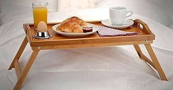 Table pour ordinateur portable en bambou petit déjeuner plateau ...