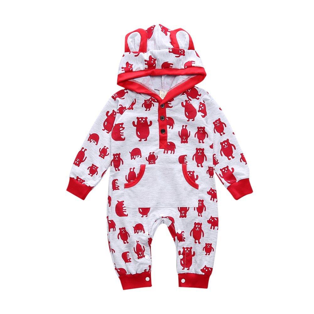 Baby Boy Girl Cartoon Pocket Hoodie Romper Outwear Clothes Fuzhou Shang Ku Trade Co. Ltd.