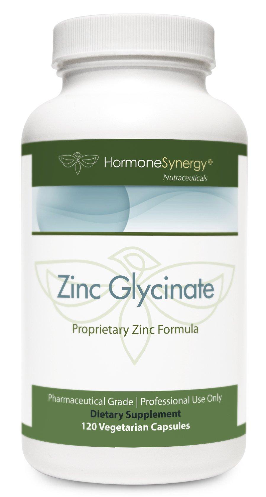 Zinc Glycinate 20 mg. | Proprietary TRAACS® Zinc Formula | 120 Veg. Capsules | Pharmaceutical Grade