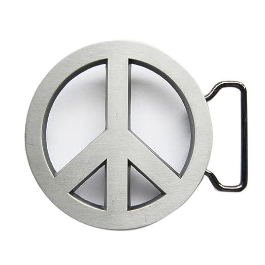 Amazon.com  New Vintage Peace Symbol Love Sign Belt Buckle ... 82a6d195676