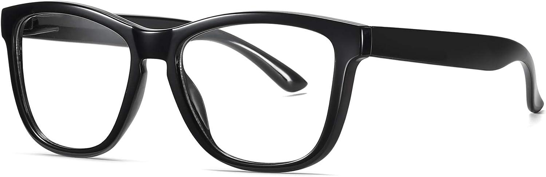 Skevic Gafas de Lectura Anti Luz Azul Gafas Presbicia Hombre Mujer Antifatiga Filtro Protección Azul UV - Gafas Ordenador para PC, Gaming, Tablet, TV, Videojuegos Lentes Transparentes (Negro)