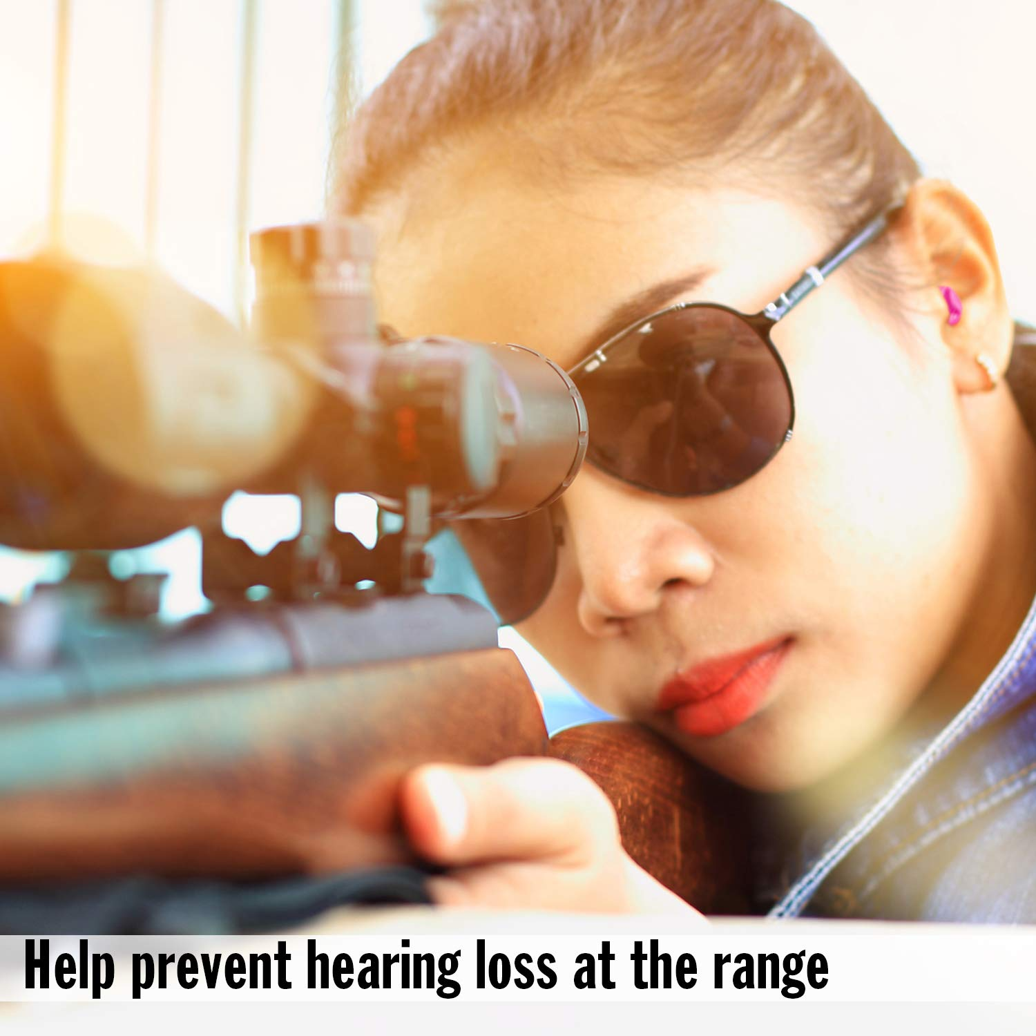 Skeet and Trap Shooting Macks For Her Soft Foam Shooting Earplugs Small Ear Plugs for Hunting Tactical 7 Pair with Travel Case Target