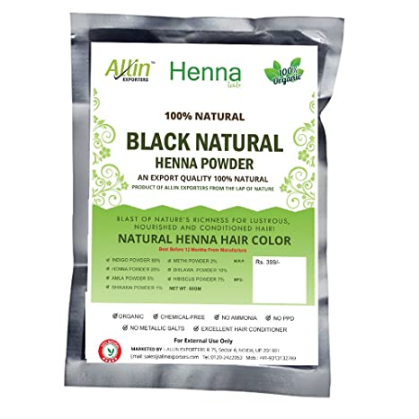 8910eb0fe2dda Buy Allin Exporters Henna Hair Color, Black, 60g Online at Low Prices in  India - Amazon.in