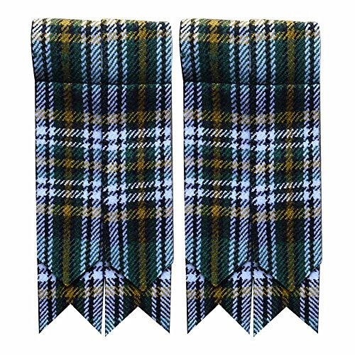 (New Solid Plain Black, Royal Stewart Tartan Many More Kilt Flashes Multi Colors (Heritage of Ireland))