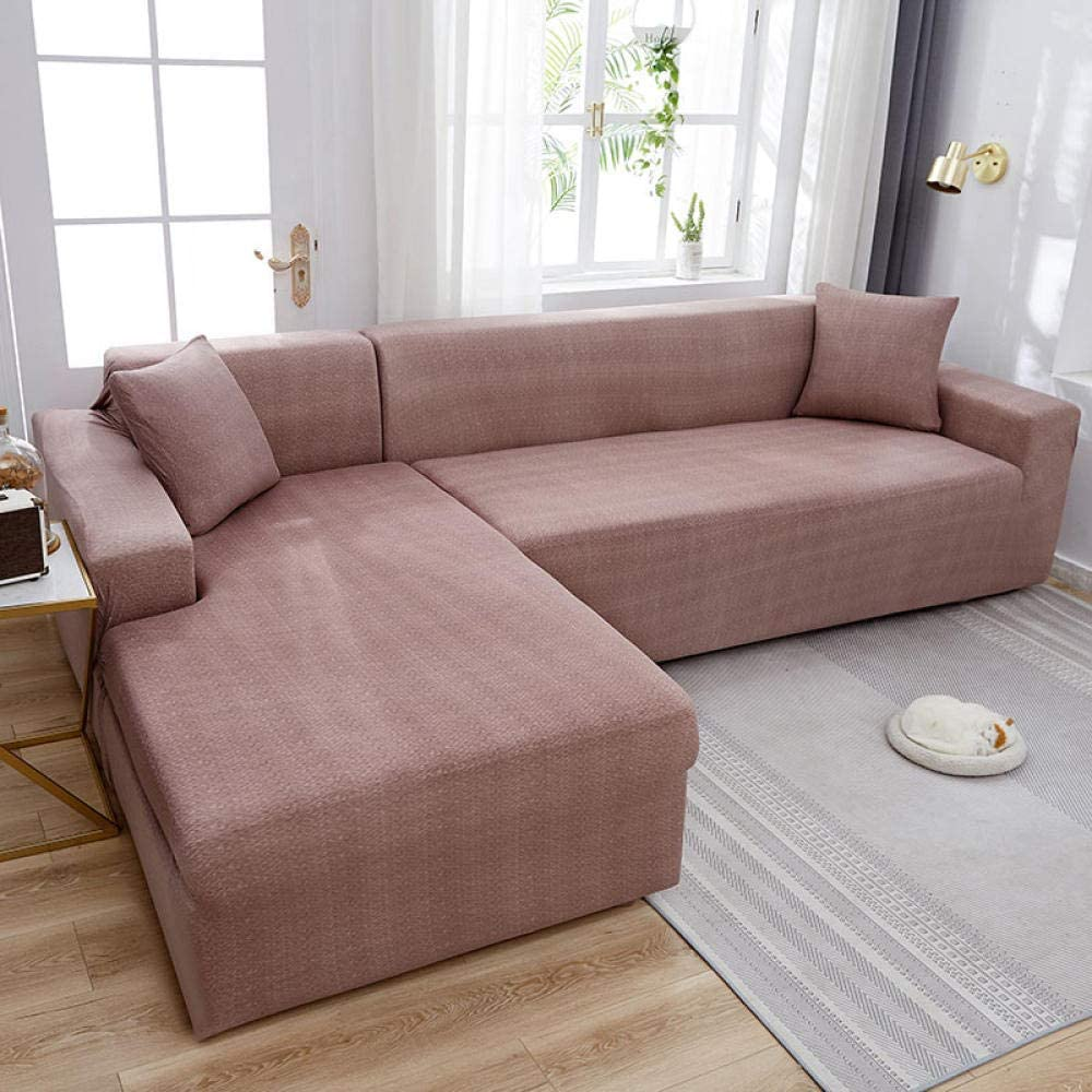 Protector de Sofá o Sillón,Funda de sofá elástica para sala de estar Fundas de esquina Fundas de sofá Estiramiento Funda de sofá con todo incluido Funda de silla en forma de L 1/2/3/4-F_3-seat_190-230