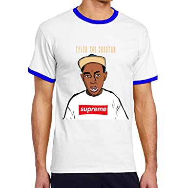 2f448db8993e Amazon.com  Men s Cool Tyler The Creator Contrast Ringer Tee XL RoyalBlue   Clothing