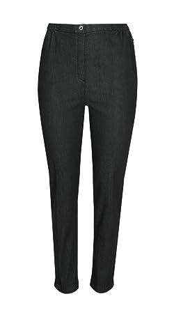 19a602e3d8ea58 T-MODE Damen Stretch Jeans Schlupfhose Schlupfjeans K-Größen - Herbst  Kollektion-Schwarz