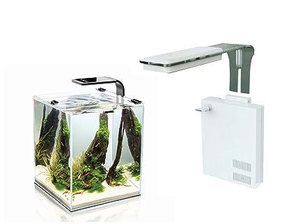 takestop® Filtro esterilizador Acuario wp200sp con lámpara LED incorporada Impermeable 18 LED filtrado 200 L