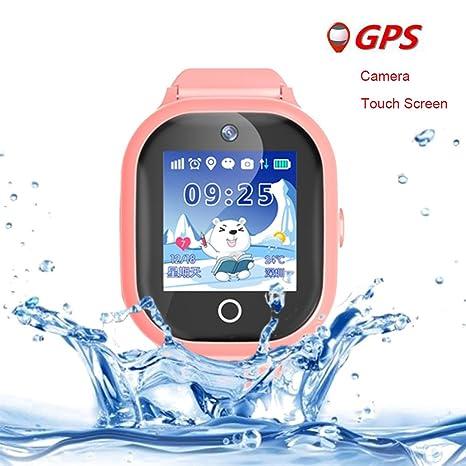Reloj inteligente para niños y niñas, resistente al agua, anti pérdida, rastreador GPS
