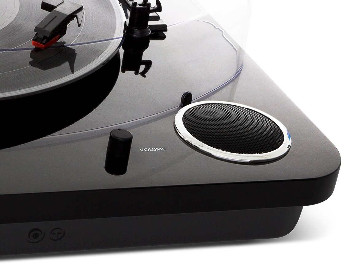 ION Audio Max LP – Three Speed Vinyl Conversion Turntable with Stereo Speakers, USB Output to Convert Vinyl Records to Digital Files and Standard RCA & Headphone Outputs – Piano Black Finish