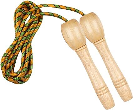 Cuerda que salta de algodón,ANGTUO cuerda Formación roscado mango ...