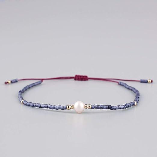 KELITCH Bracelets Femme Homme Japonais Perles de Rocailles 3 Pcs Bracelet de lAmiti/é Shell Perle R/églable Paire Bracelet Bracelet Femme Hommes Hommes