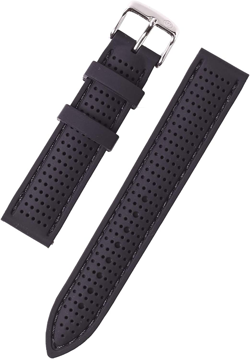 W&S 2-Piece Rubber Silicone Watch Strap